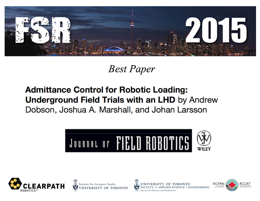 Best Paper FSR 2015